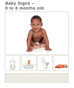 Baby Signs - 0 to 6 months old Wordlist