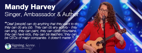 Living Loud: Mandy Harvey – Singer, Ambassador, and Author