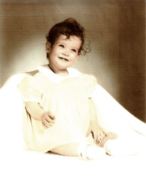 Debbie Wright as a baby.