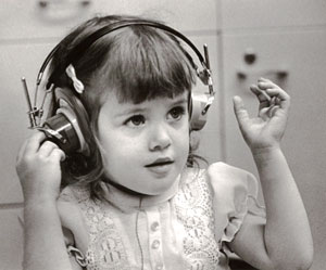 Debbie Wright as a child.