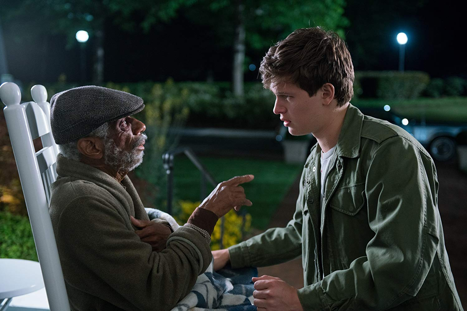 CJ Jones and Ansel Elgort in Baby Driver