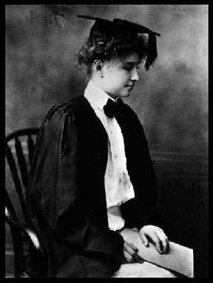Helen Keller's graduation from Radcliffe College.