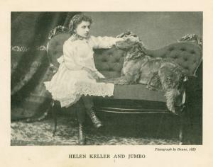 Helen Keller with dog Jumbo