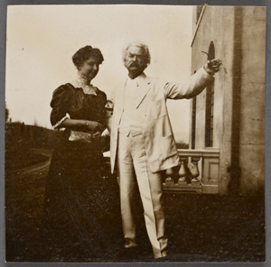 Helen Keller with Mark Twain