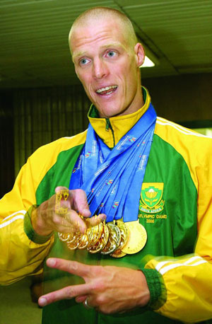 Parkin with many medals