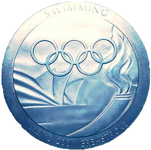Parkin's Olympic Silver Medal for the 200m Breaststroke