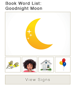 View word list of ASL signs for the book Goodnight Moon