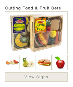 View word list of ASL signs for cutting food and fruit sets