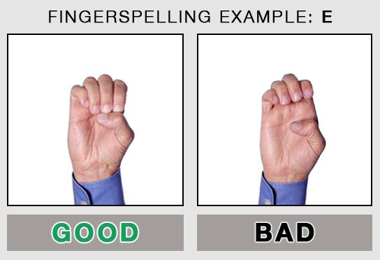 Fingerspelling Example: E