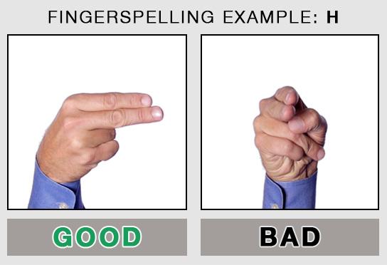 Fingerspelling Example: H