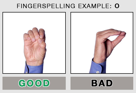 Fingerspelling Example: O
