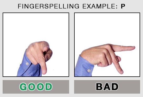 Fingerspelling Example: P