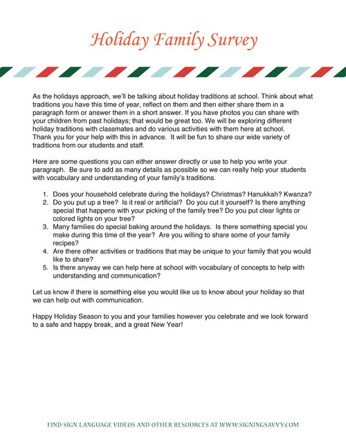 Printable PDF - Holiday Letter - Option 4 Candy Cane Line