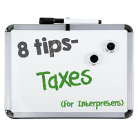 Interpreter 4-1-1: Tax Tips for Interpreters