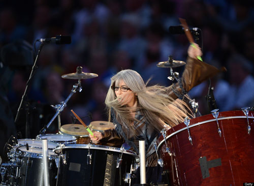Deaf Percussionist Evelyn Glennie at the Olympic Opening Ceremony