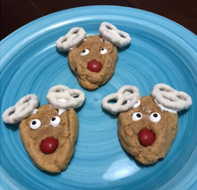 Sign Word List For Recipe Peanut Butter Reindeer Rudolph Cookies