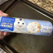 Cookie dough for Melting Snowman Cookies
