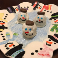 Frosty the Snowman Oreo Truffles