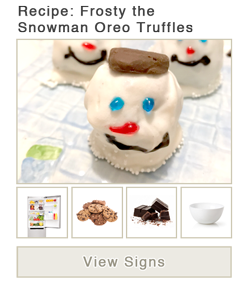View word list of ASL signs for Frosty The Snowman Oreo Truffles