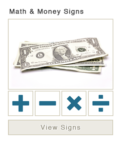 Math and Money Signs