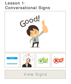 Lesson 1: Conversational Signs