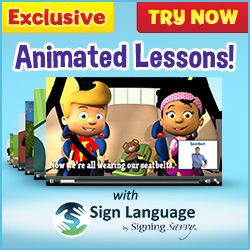New animated learning episodes featuring Signing Savvy sign language videos